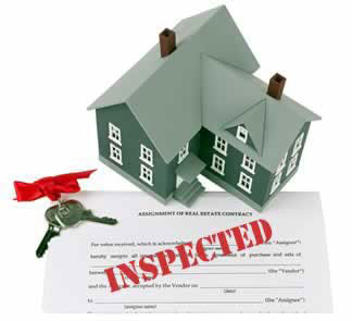 Home Inspection Process with report and keys